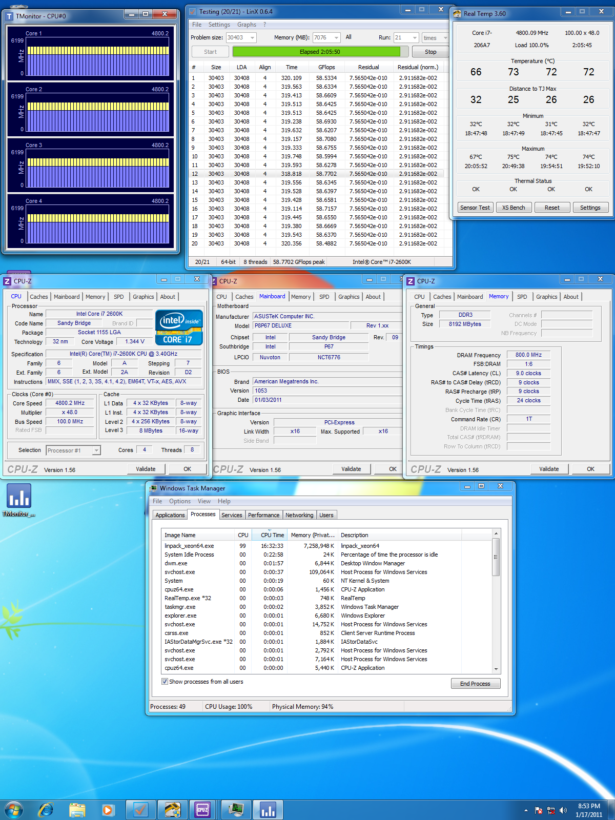 I5 2500k 2600k Batch Number And O C Results Archive I7 2nd Proc Only Xtremesystems Forums