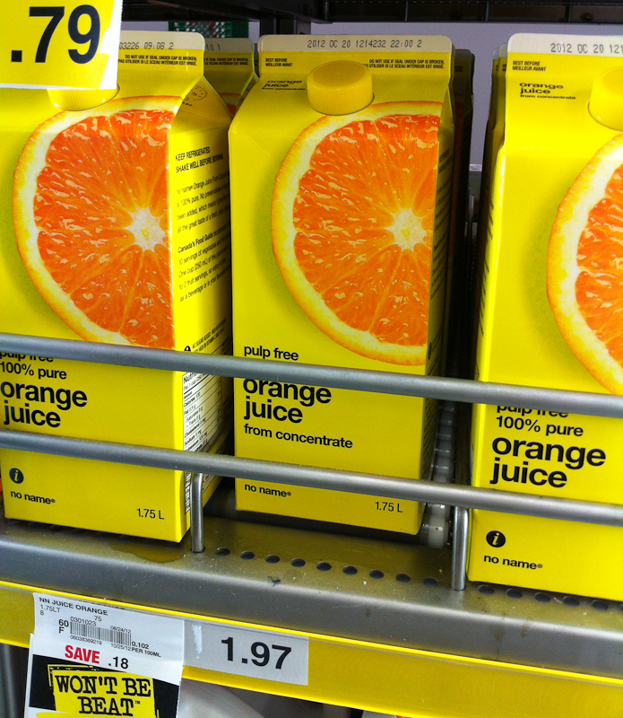 No Name Orange Juice